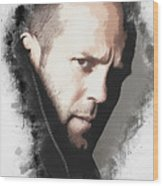 A Tribute to JASON STATHAM Wood Print