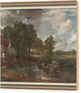 A Tribute To John Constable Catus 1 No. 1 -the Hay Wain L B With Alt. Decorative Ornate Frame. Wood Print