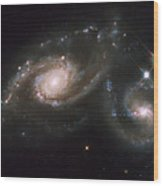 A Triplet Of Galaxies Known As Arp 274 Wood Print