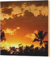 A Tropical Sunset Wood Print