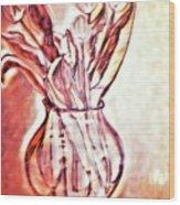 A Tulip Bouquet Wood Print