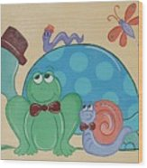 A Turtles Friends Wood Print