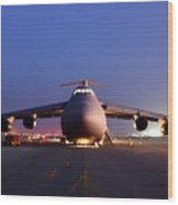 A U.s. Air Force C-5 Galaxy Aircraft Wood Print
