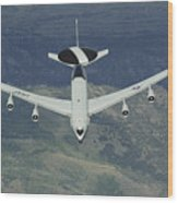 A U.s. Air Force E-3 Sentry Airborne Wood Print
