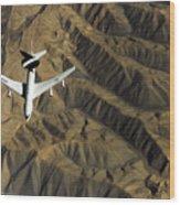 A U.s. Air Force E-3 Sentry Aircraft Wood Print