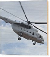 A U.s. Air Force Mi-8 Hip Helicopter Wood Print