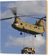 A U.s. Army Ch-47 Chinook Helicopter Wood Print