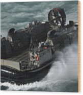 A U.s. Navy Landing Craft Air Cushion Wood Print
