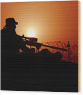 A U.s. Special Forces Soldier Armed Wood Print