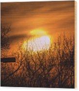 A Vague Sun Wood Print