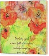 A Vaseful Of Sunshine Wood Print
