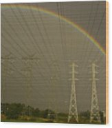 A Vast Array Of Electrical Towers Wood Print