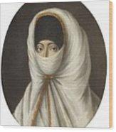 A Veiled Lady Wood Print