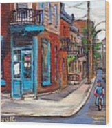 A Vendre Petits Formats L'art De Montreal Originals For Sale Wilensky's Diner Best Montreal Scenes Wood Print
