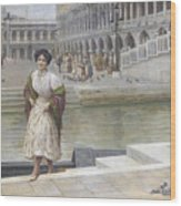 A Venetian Beauty Wood Print