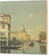 A Venetian Canal Wood Print
