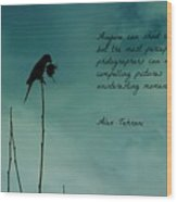 A Verse For Photographers Wood Print