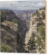 A Vertical View - Grand Canyon Wood Print