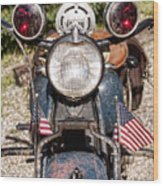 A Very Old Indian Harley-davidson Wood Print by James BO  Insogna