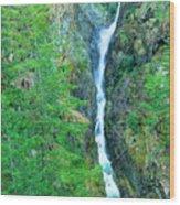 A Very Tall Waterfall Wood Print