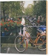 A View Down The Keizersgracht Canal Wood Print