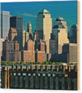 A View From Hoboken Wood Print