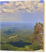 A View From Table Rock Wood Print