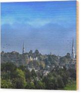 A View Of Bangor Wood Print