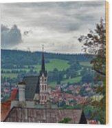 A View Of Cesky Krumlov  Wood Print