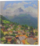 A View Of Engelberg Switzerland Wood Print