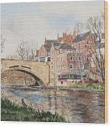 A View Of Framwelgate Bridge Wood Print