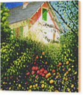 A View Of Monets House In Giverny France Wood Print