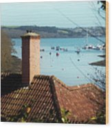A View Of Mylor Harbour Wood Print