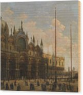 A View Of St. Mark's Basilica Wood Print