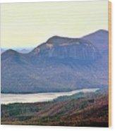 A View Of Table Rock South Carolina Wood Print