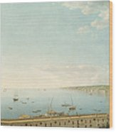 A View Of The Bay Of Naples Looking Southwest From The Pizzofalcone Toward Capo Di Posilippo Wood Print