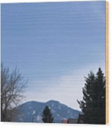 A View Of The Beartooth Mountains Wood Print