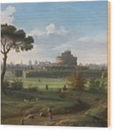A View Of The Castel Sant'angelo Wood Print