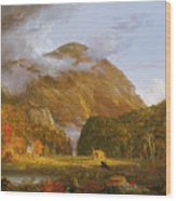 A View Of The Mountain Pass Called The Notch Of The White Mountains Wood Print by Thomas Cole