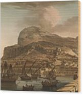 A View Of The Rock Of Gibraltar From The Spanish Lines 1782 Wood Print