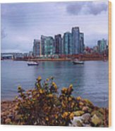 A View Of Vancouver Wood Print