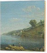 A View Of Villa Martinelli At Posillipo Wood Print