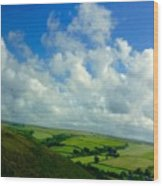 A View Over Exmoor Wood Print