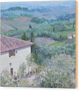 A Villa In Tuscany Wood Print