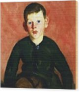 A Village Boy Wood Print