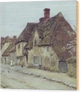A Village Street Kent Wood Print