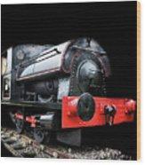 A Vintage Steam Train Wood Print