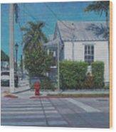 A Walk In Key West Wood Print