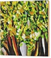 A Walk In The Magic Garden Wood Print