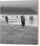 A Walk In The Mist Wood Print